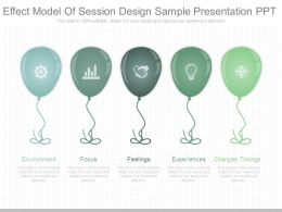 Effect Model Of Session Design Sample Presentation Ppt