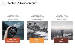 Effective Advertisements Ppt Powerpoint Presentation Gallery Professional Cpb