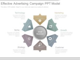 Effective Advertising Campaign Ppt Model