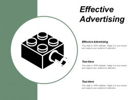 Effective Advertising Ppt Powerpoint Presentation Infographic Template Design Ideas Cpb