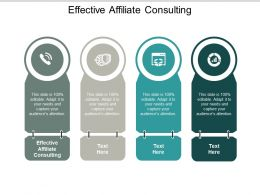 Effective Affiliate Consulting Ppt Powerpoint Presentation Ideas Model Cpb