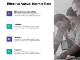 Effective Annual Interest Rate Ppt Powerpoint Presentation Icon Graphics Download Cpb