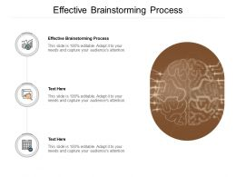 Effective Brainstorming Process Ppt Powerpoint Presentation Inspiration Cpb