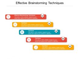 Effective Brainstorming Techniques Ppt Powerpoint Presentation Styles Graphics Cpb