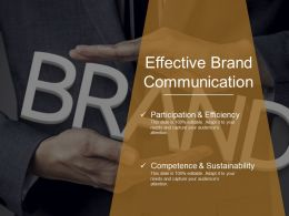 Effective Brand Communication Powerpoint Templates