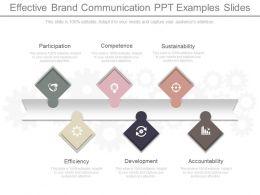 Effective Brand Communication Ppt Examples Slides