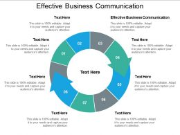 Effective Business Communication Ppt Powerpoint Presentation Ideas Show Cpb