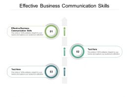 Effective Business Communication Skills Ppt Powerpoint Presentation Slides Cpb