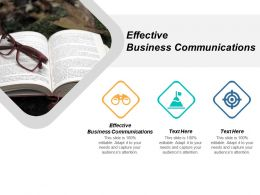 Effective Business Communications Ppt Powerpoint Presentation Slides Example Cpb