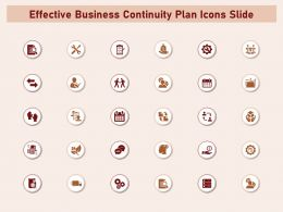 Effective Business Continuity Plan Icons Slide Powerpoint Presentation Icons