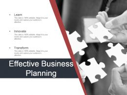 Effective Business Planning Powerpoint Show