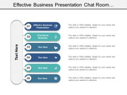 Effective Business Presentation Chat Room Business Value Proposition Cpb