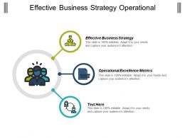 Effective Business Strategy Operational Excellence Metrics Exceptional Metrics Cpb