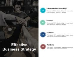 Effective Business Strategy Ppt Powerpoint Presentation Styles Brochure Cpb