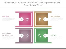Effective Call To Actions For Web Traffic Improvement Ppt Presentation Slides