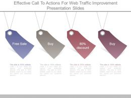 Effective Call To Actions For Web Traffic Improvement Presentation Slides