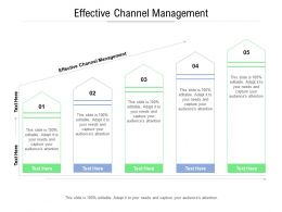 Effective Channel Management Ppt Powerpoint Presentation Model Cpb