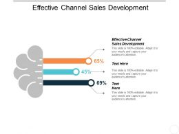 Effective Channel Sales Development Ppt Powerpoint Presentation Infographics Outline Cpb