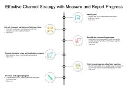 Effective Channel Strategy With Measure And Report Progress