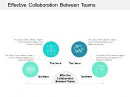 Effective Collaboration Between Teams Ppt Powerpoint Presentation Icon Gallery Cpb