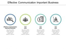 Effective Communication Important Business Ppt Powerpoint Presentation Gallery Show Cpb