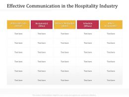 Effective Communication In The Hospitality Industry M3208 Ppt Powerpoint Presentation File Deck