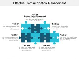 Effective Communication Management Ppt Powerpoint Presentation File Master Slide Cpb