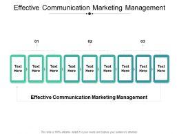 Effective Communication Marketing Management Ppt Powerpoint Presentation Pictures Maker Cpb