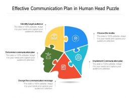 Effective Communication Plan In Human Head Puzzle