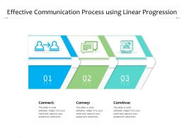 Effective Communication Process Using Linear Progression