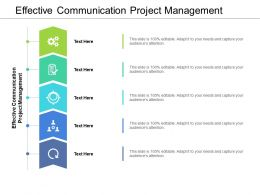 Effective Communication Project Management Ppt Powerpoint Presentation Design Cpb