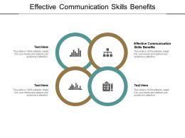 Effective Communication Skills Benefits Ppt Powerpoint Presentation File Slides Cpb