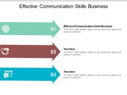 Effective Communication Skills Business Ppt Powerpoint Presentation File Information Cpb