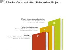 Effective Communication Stakeholders Project Planning Execution Risk Matrix Cpb