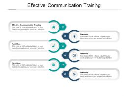 Effective Communication Training Ppt Powerpoint Presentation Visuals Cpb