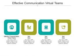 Effective Communication Virtual Teams Ppt Powerpoint Presentation Infographic Template Portfolio Cpb