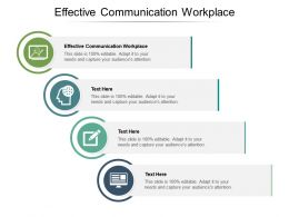 Effective Communication Workplace Ppt Powerpoint Presentation Slide Download Cpb