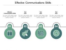 Effective Communications Skills Ppt Powerpoint Presentation Portfolio Elements Cpb