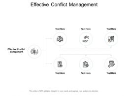 Effective Conflict Management Ppt Powerpoint Presentation Icon Maker Cpb