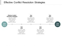 Effective Conflict Resolution Strategies Ppt Powerpoint Presentation Outline Example Cpb
