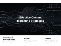 Effective Content Marketing Strategies Ppt Powerpoint Presentation Infographic Template Cpb