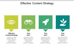 Effective Content Strategy Ppt Powerpoint Presentation Summary Designs Cpb