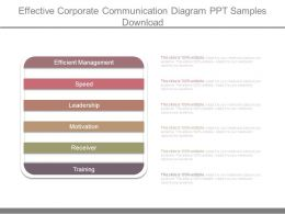 Effective Corporate Communication Diagram Ppt Samples Download