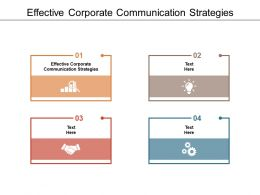 Effective Corporate Communication Strategies Ppt Powerpoint Presentation Infographic Template Cpb