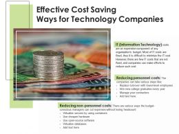 Effective Cost Saving Ways For Technology Companies