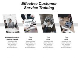 Effective Customer Service Training Ppt Powerpoint Presentation File Graphic Images Cpb