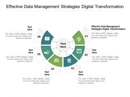 Effective Data Management Strategies Digital Transformation Ppt Powerpoint Presentation Styles Graphics Cpb