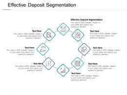 Effective Deposit Segmentation Ppt Powerpoint Presentation File Guidelines Cpb