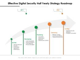 Effective Digital Security Half Yearly Strategy Roadmap