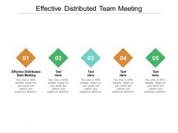Effective Distributed Team Meeting Ppt Powerpoint Presentation Model File Formats Cpb